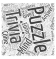 Mind Trivia Puzzles Word Cloud Concept