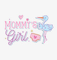 mommys girls message with cartoons vector image vector image