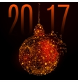 new year ball vector image vector image