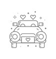 newly married wedding car line art icon vector image