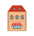 old european house with store on the ground floor vector image vector image