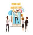 online meeting concept vector image vector image