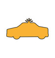 patrol vehicle silhouette isolated icon vector image vector image
