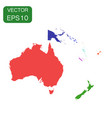 political map of oceania and australia icon vector image vector image