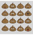 Poop Cute Cartoon Emoji Set vector image vector image