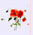 Postcard painted red poppy vector image vector image