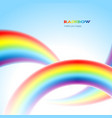 rainbows in the sky vector image
