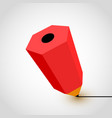 red pencil icon on white background vector image vector image