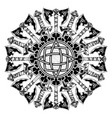 scandinavian tattoo 0013 vector image vector image