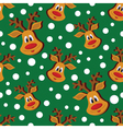 Seamless Christmas pattern with deer and vector image vector image