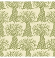 Seamless pattern with curling trees vector image vector image