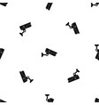 security camera pattern seamless black vector image vector image