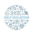 self isolation concept round outline vector image vector image