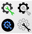service tools eps icon with contour version vector image vector image