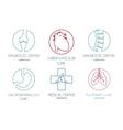 set logos on a medical theme vector image