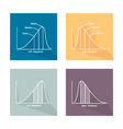 Set of Positive and Negative Distribution Curve vector image vector image