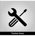 Setting black icon on grey background illu vector image vector image