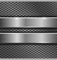 steel long plates on perforated background vector image vector image