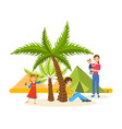 summer journey together in warm country vector image