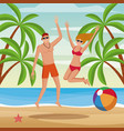 summer people and beach vector image