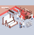textile factory vector image vector image
