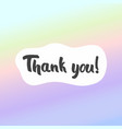 thank you postcard background for design and vector image vector image