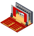 theatre interior with furniture isometric view vector image vector image