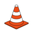 traffic cone design vector image