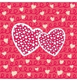 Valentines Day or Wedding Hearts Seamless Pattern vector image vector image