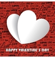 Valentines day with paper vector image vector image