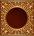 vintage gold ornamental background vector image vector image