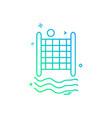 volley ball icon design vector image