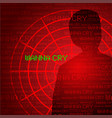 wanna cry cyber virus vector image vector image