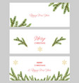 watercolor christmas set cards with vector image