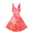 watercolor dress on white vector image vector image