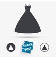 Wedding dress sign icon Elegant bride symbol vector image vector image