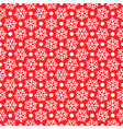 white snowflakes on red for christmas gift box vector image vector image