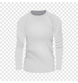 white tshirt long sleeve mockup realistic style vector image vector image