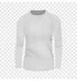 White tshirt long sleeve mockup realistic style vector image