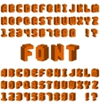 Isometric alphabet font 3D letters for web mobile vector image