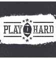 Grunge american football poster design vector image