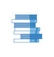 school pile books study education image vector image