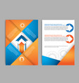 abstract brochure design template with gear vector image vector image