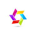 Abstract icon in vivid colors vector image vector image