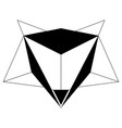 abstract low poly fox icon vector image vector image