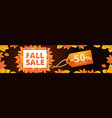 autumn final sale banner horizontal cartoon style vector image vector image