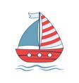 baby boat print vector image vector image