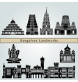 Bangalore landmarks and monuments vector image vector image