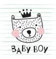 bear baboy vector image vector image
