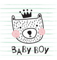 bear baby boy vector image vector image